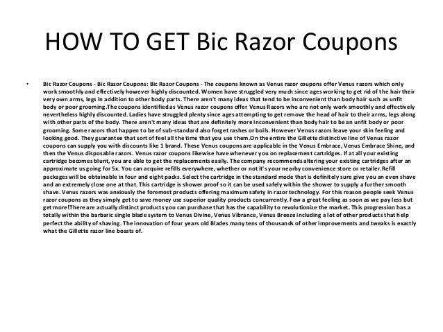 graphic relating to Bic Razor Coupons Printable titled Bic Razor Coupon codes - Printable Bic Razor Coupon codes