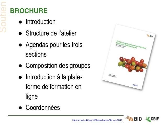 BROCHURE ● Introduction ● Structure de l'atelier ● Agendas pour les trois sections ● Composition des groupes ● Introductio...