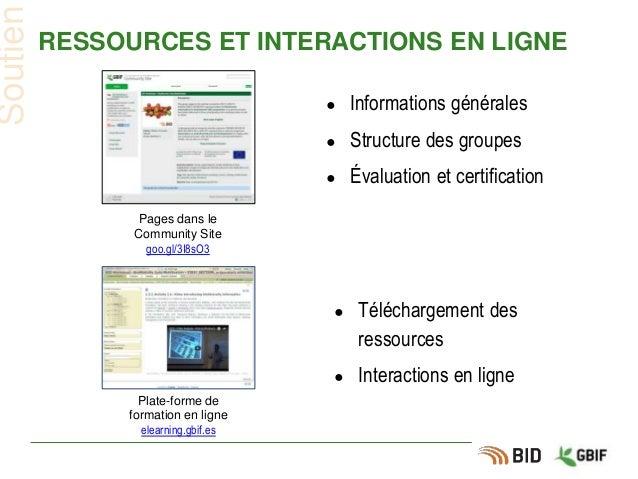 RESSOURCES ET INTERACTIONS EN LIGNE ● Informations générales ● Structure des groupes ● Évaluation et certification Soutien...