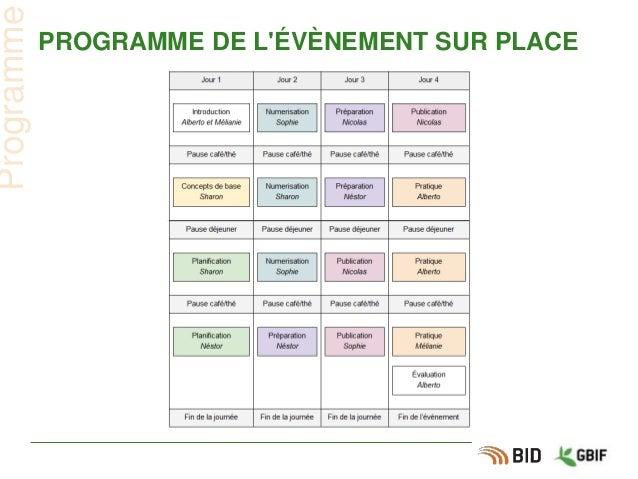 PROGRAMME DE L'ÉVÈNEMENT SUR PLACE Programme