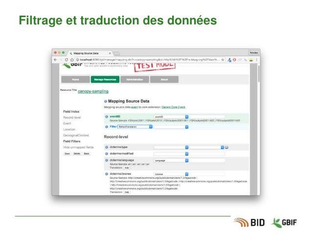 Filtrage et traduction des données