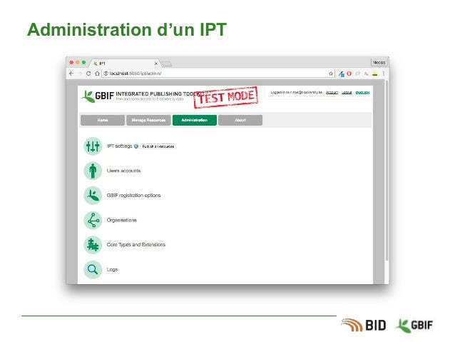 Administration d'un IPT