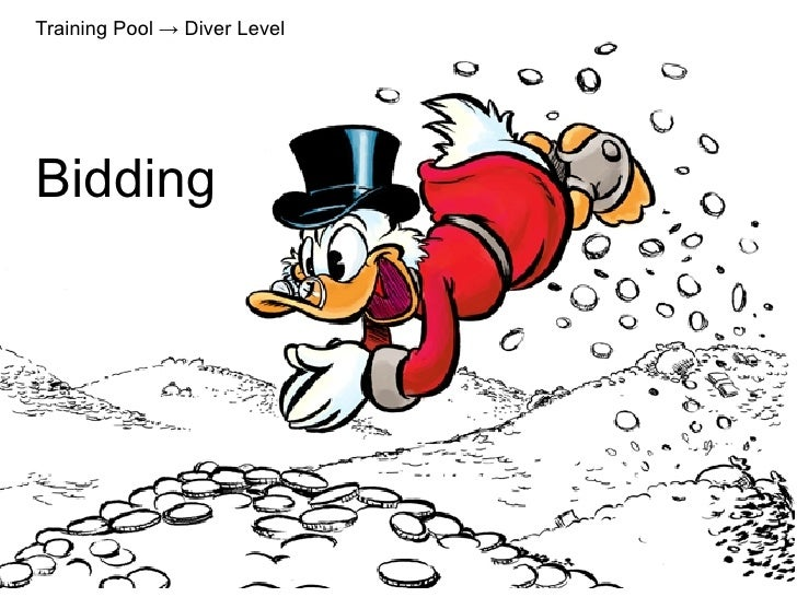 Training Pool → Diver Level     Bidding             Bidding