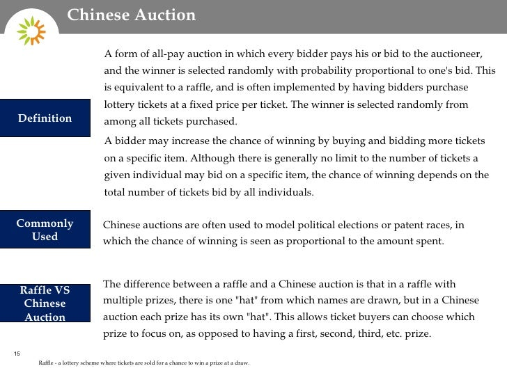 chinese auction ticket prices