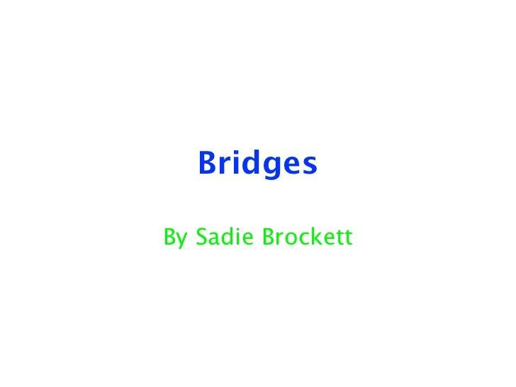 BridgesBy Sadie Brockett