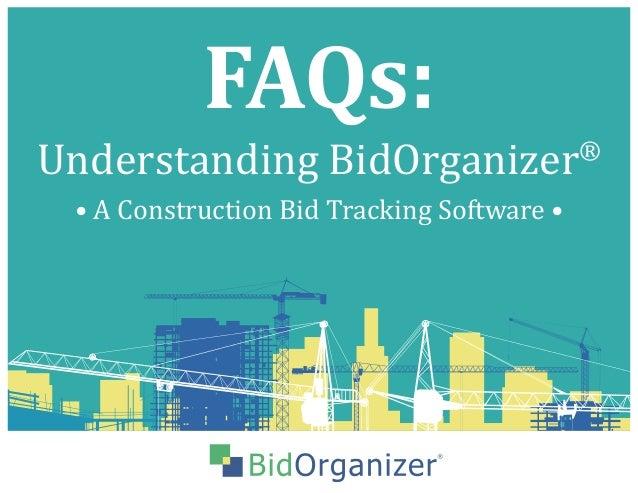 faq s understanding bidorganizer a construction bid tracking softw