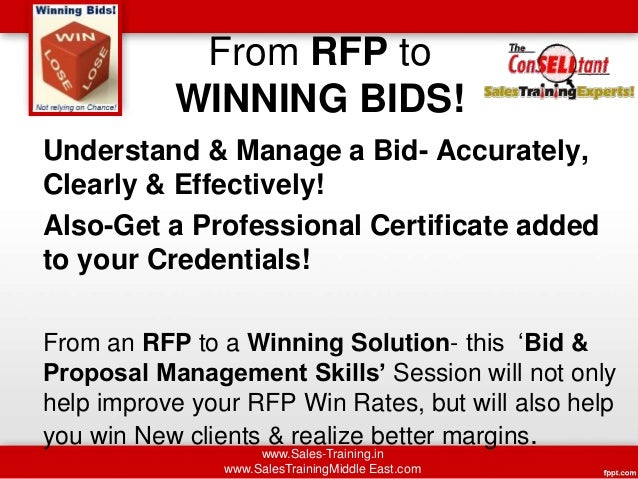 Bid Proposal Management Training Dubai Doha S Africa Jakarta