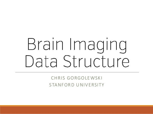 CHRIS GORGOLEWSKI STANFORD UNIVERSITY