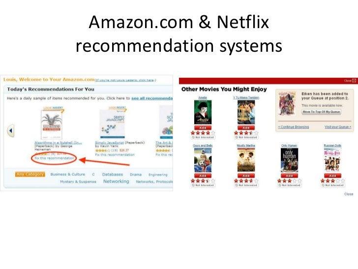 Amazon.com & Netflix recommendation systems<br />
