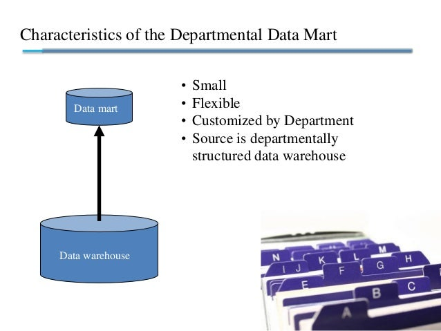Characteristics of the Departmental Data Mart • Small • Flexible • Customized by Department • Source is departmentally str...