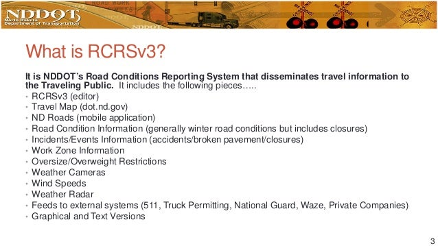 ndgisuc2017 road conditions reporting system