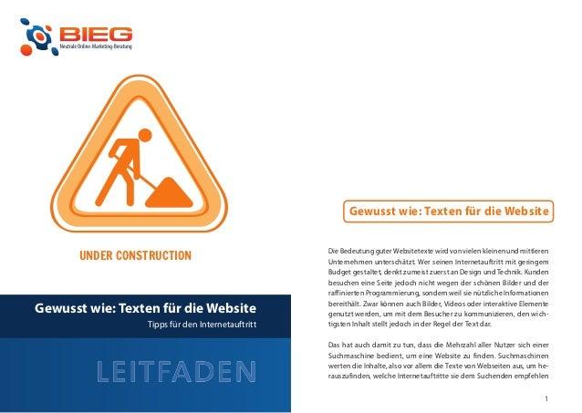 Gewusst wie: Texten für die Website                                                  Die Bedeutung guter Websitetexte wird...