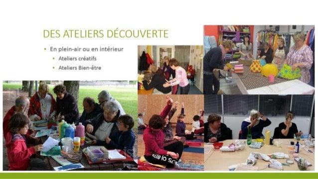 DES ATELI ERS DE/ COUVERTE  7 En p| ein—air ou en intérieur - Ateliers créatifs ' Ateliers Bien-étre