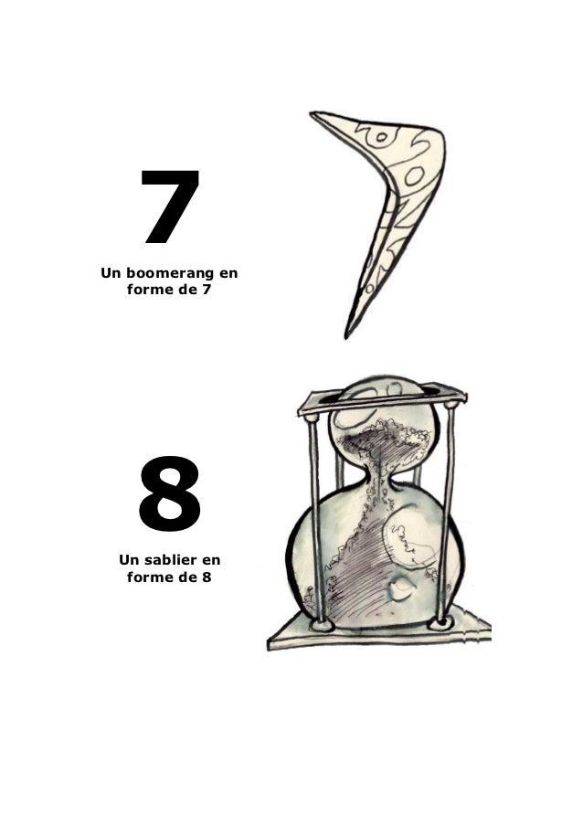 7Un boomerang en   forme de 7   8 Un sablier en  forme de 8