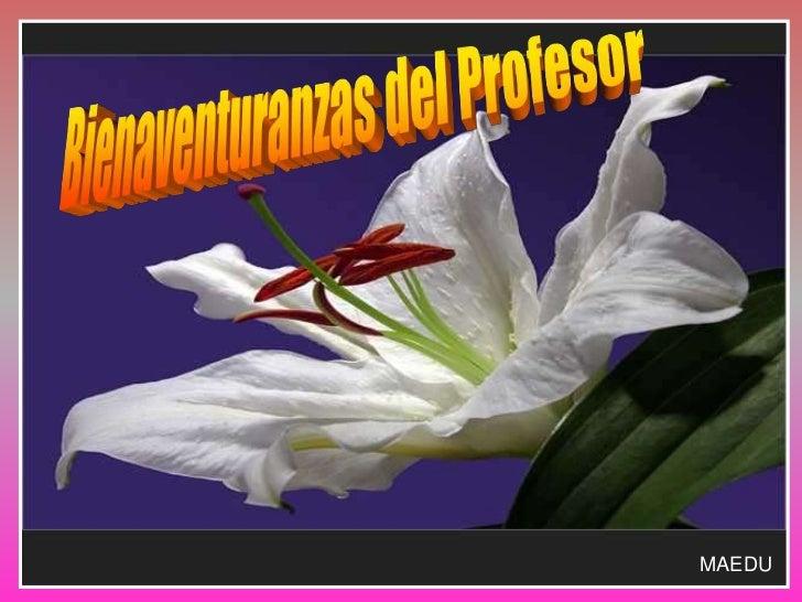 Bienaventuranzas del Profesor<br />MAEDU<br />