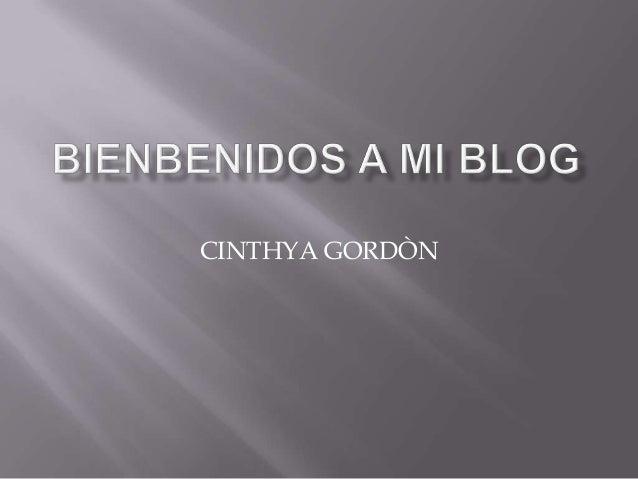 CINTHYA GORDÒN