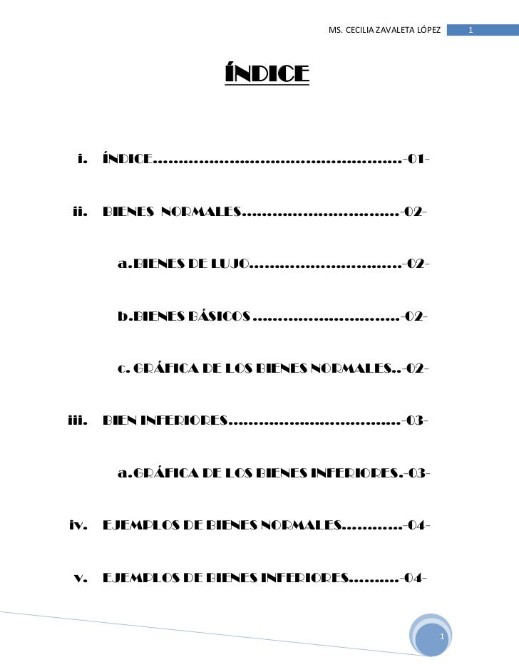 ÍNDICE<br />ÍNDICE…………………………………….……-01-<br />BIENES  NORMALES…………………….……-02-<br />BIENES DE LUJO…………………….…..-02-<br />BIEN...