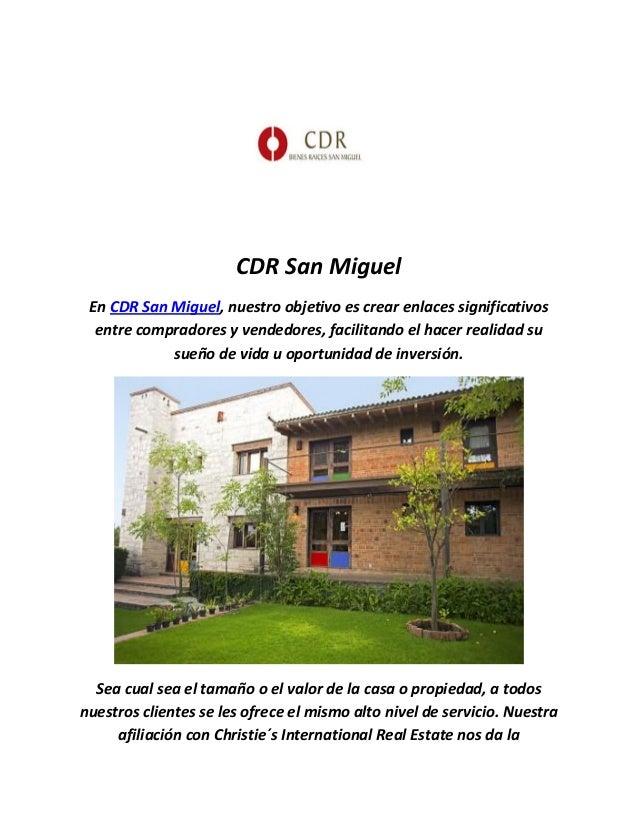 CDR San Miguel En CDR San Miguel, nuestro objetivo es crear enlaces significativos entre compradores y vendedores, facilit...