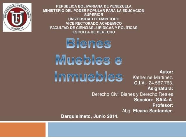 Autor:  MINISTERIO DEL PODER POPULAR PARA LA EDUCACION  FACULTAD DE CIENCIAS JURÍDICAS Y POLÍTICAS  Katherine Martínez.  C...