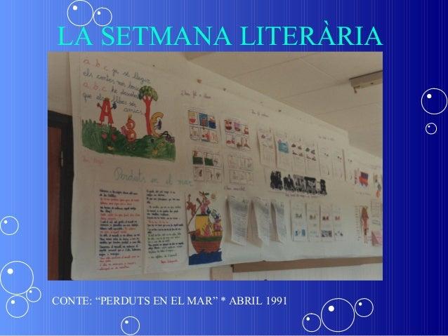 """LA SETMANA LITERÀRIACONTE: """"PERDUTS EN EL MAR"""" * ABRIL 1991"""