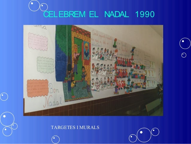 CELEBREM EL NADAL 1990 TARGETES I MURALS