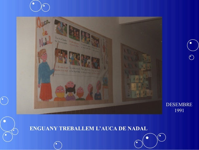 DESEMBRE                                       1991ENGUANY TREBALLEM L'AUCA DE NADAL