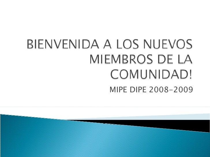 MIPE DIPE 2008-2009