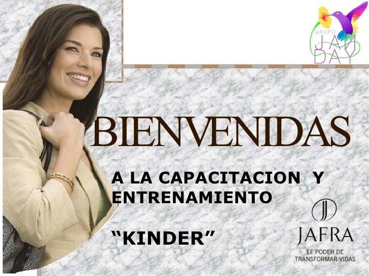 """BIENVENIDAS A LA CAPACITACION Y ENTRENAMIENTO  """"KINDER"""""""