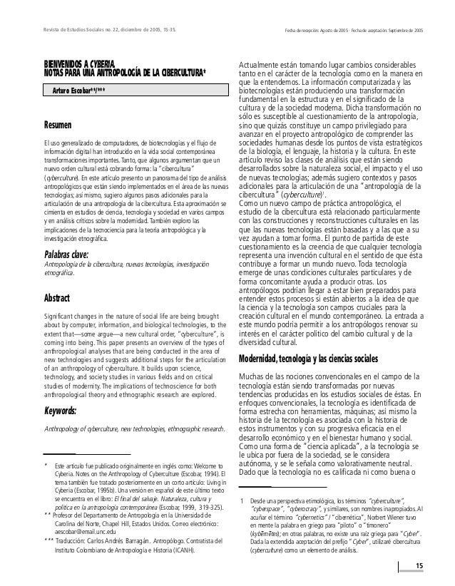 Revista de Estudios Sociales no. 22, diciembre de 2005, 15-35. 15 Fecha de recepción: Agosto de 2005 · Fecha de aceptación...