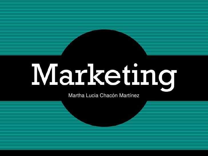 Martha Lucia Chacón Martínez