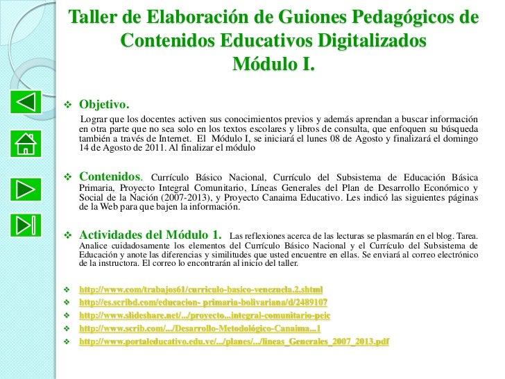 Bienvenidos al taller de elaboraci n de contenidos educativos for Curriculo basico nacional