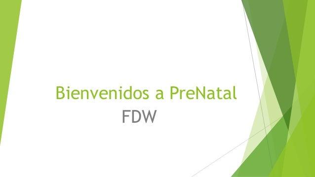 Bienvenidos a PreNatal FDW
