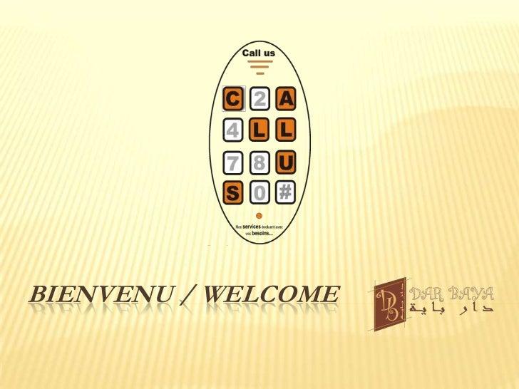 Bienvenu / welcome<br />