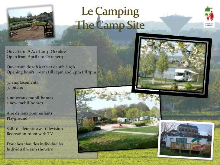 Bienvenue au camping municipal de pont de l arche for Camping camp municipal au jardin