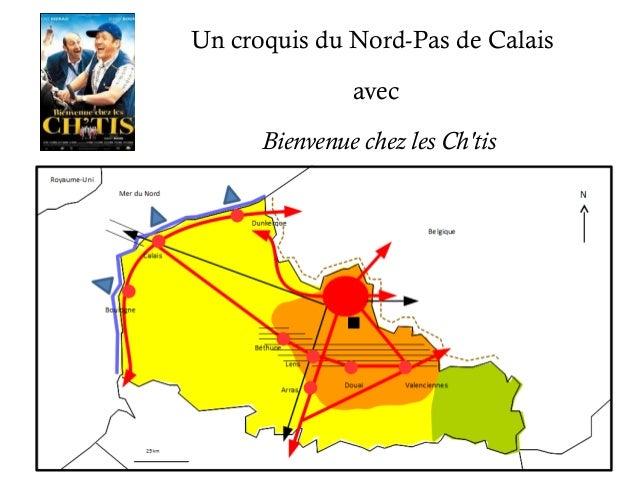 Un croquis du Nord-Pas de Calais  avec  Bienvenue chez les Ch'tis