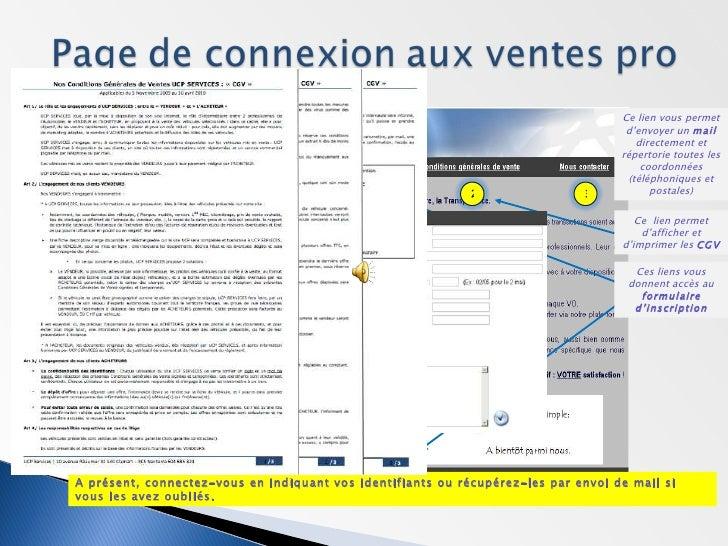 Manuel d'utilisation UCP Services Slide 2