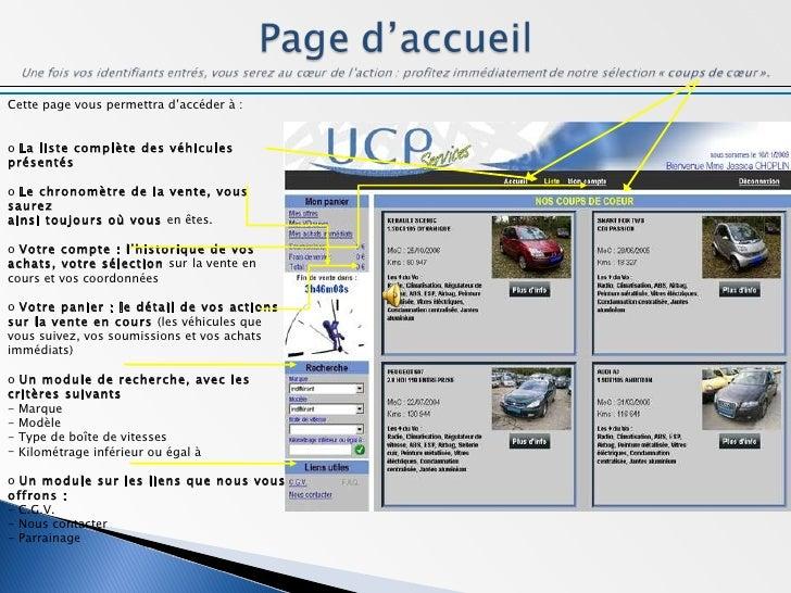 Manuel d'utilisation UCP Services Slide 3