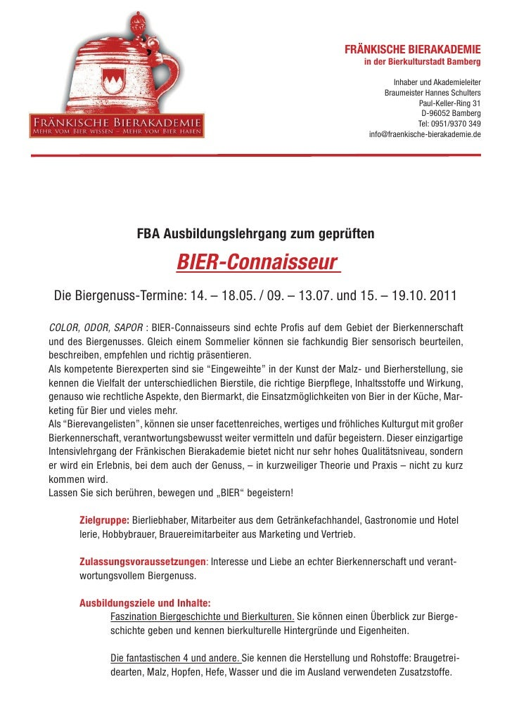 FRÄNKISCHE BIERAKADEMIE                                                                              in der Bierkulturstad...