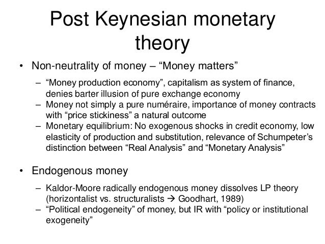 neutrality and non neutrality of money Neutrality of money monetary economics is a branch of economics that studies, evaluates, and analyzes the functions and roles of money in the economy  based on the arguments of these.