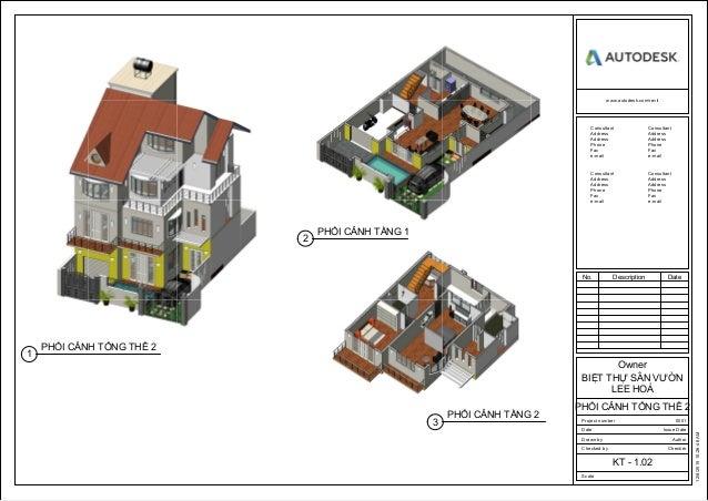 Bài tập học viên Revit Architecture Tháng 10 - 2015 Slide 2