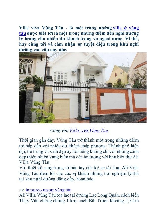 Villa viva Vũng Tàu - là một trong những villa ở vũng tàu được biết tới là một trong những điểm đến nghỉ dưỡng lý tưởng ch...