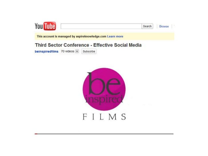 Be Inspired Films: Highlights of the Third Sector Conference - Effective Social Media