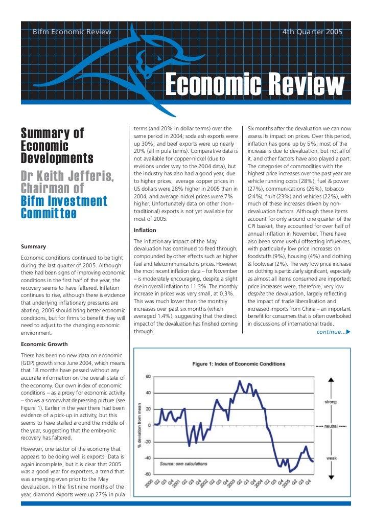Bifm Economic Review                                                                                           4th Quarter...