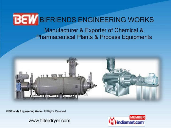 Manufacturer & Exporter of Chemical & Pharmaceutical Plants & Process Equipments<br />