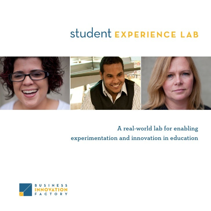 A real-world lab for enabling experimentation and innovation in education