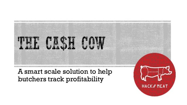 A smart scale solution to helpbutchers track profitability