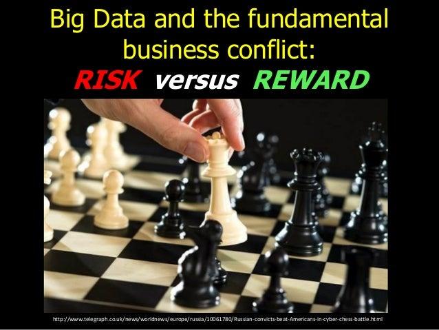 Big Data and the fundamental business conflict: RISK versus REWARD http://www.telegraph.co.uk/news/worldnews/europe/russia...