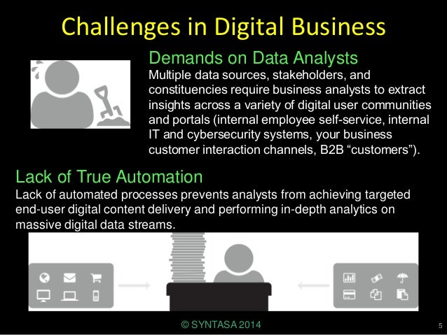 Challenges in Digital Business Demands on Data Analysts Multiple data sources, stakeholders, and constituencies require bu...