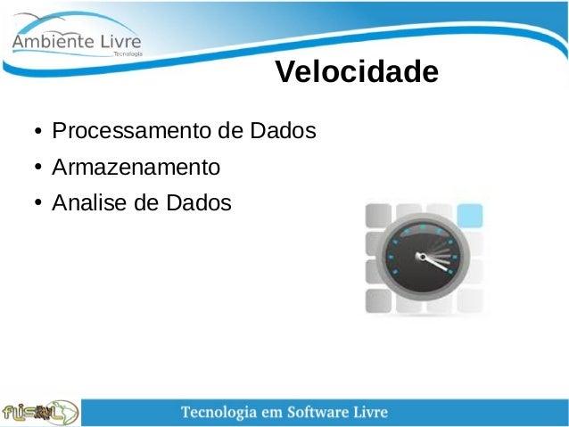 Velocidade ● Processamento de Dados ● Armazenamento ● Analise de Dados