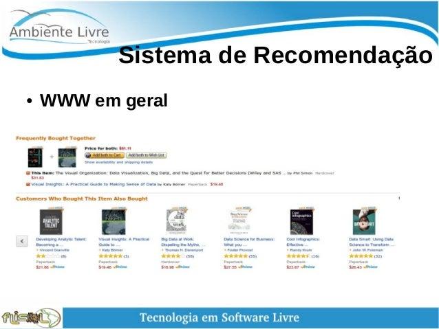 Sistema de Recomendação ● WWW em geral
